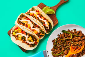 One-Pan Beef & Charred Pepper Tacos image