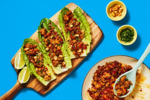One-Pan Sweet Chili Turkey Lettuce Wraps image