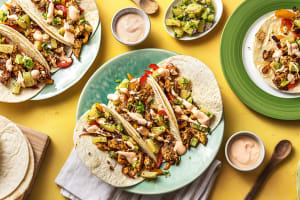 One-Pan Tropical Chicken Tacos image