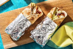 Opgerolde tortilla's met kalkoenshoarma image