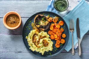 Oven-Baked Portobellos and Chive Mashed Potatoes image
