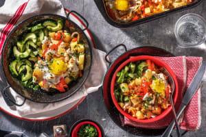 Ovenschotel met groente, ei en geitenkaas image