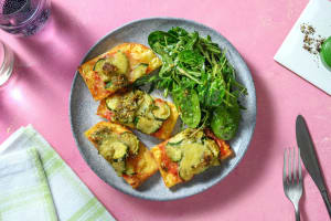 Zucchini and Pesto Flatbread image