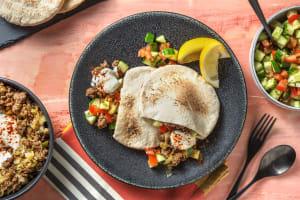 Pitabroodjes met rundergehakt en labne image