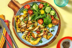 Pesto Mozzarella & Nectarine Grilled Flatbread image