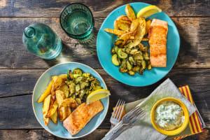 Pan-Seared Greek Salmon image
