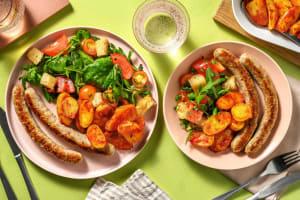 Italiaanse panzanellasalade met varkensworst image