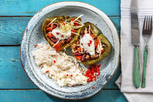 Paprika's gevuld met chili con carne image