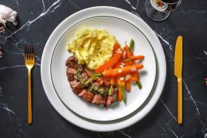 Pavé de rumsteak & salsa verde à l'italienne image