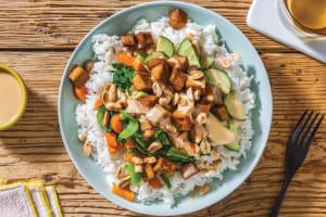 Peking Marinated Tofu & Garlic Rice Bowl image