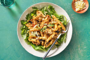 Penne in aubergine-roomsaus image