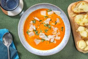 Pikante Tomaten-Peperoni-Suppe image