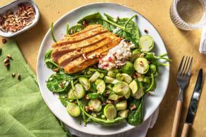 Piri-Piri-Poulet auf Rosenkohl-Apfel-Salat image