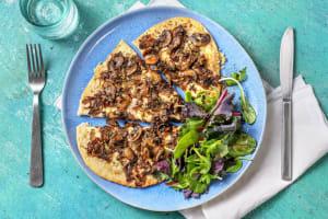 Pizza bianca aux champignons poêlés image