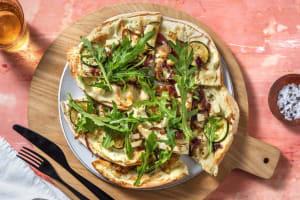 Pizza bianco met geitenkaas en perzik image