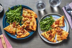 Pizza montagnarde à la tartiflette et aux lardons image