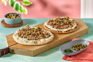 Pizzette Tonno mit Kapern und Oliven image