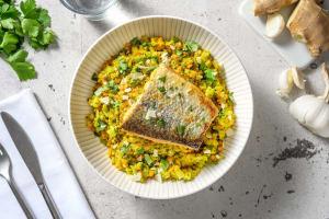Poêlée de lentilles au saumon & brocoli image