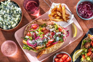 Pork Kofta Gyros and Chips image