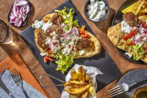 Pork Kofta Gyros with Feta Cheese & Tzatziki image