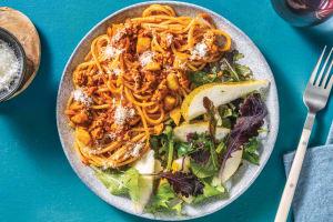 Pork & Red Pesto Spaghetti image