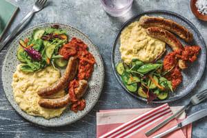 Pork Sausages & BBQ Tomato Relish image