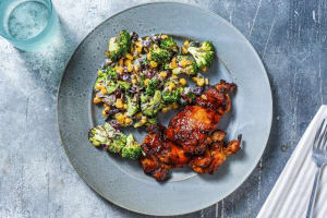 BBQ Rubbed Chicken and Broccoli Salad image