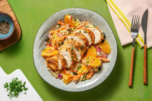 Moroccan-Style Orange and Olive Chicken image