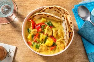 Poulet-Curry-Eintopf mit buntem Gemüse image