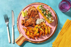 Grilled Chicken and Elotes image