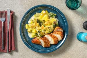 Poulet mit Kohlrabi-Broccoli-Auflauf image