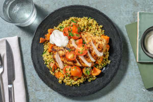 Roasted Shawarma Chicken and  Freekeh image