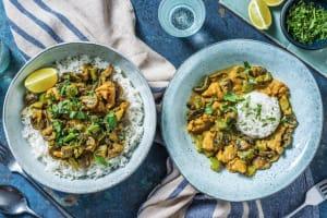 Poulet thaï au curry vert et lait de coco image