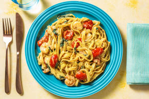 King Prawns and Fresh Tagliatelle image