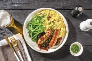 Pork Sausages & Red Wine Jus image