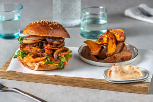 Pulled Mushroom Burger mit Austernpilzen image