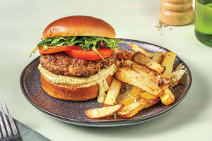 Easy Beef Burger & Parmesan Fries image
