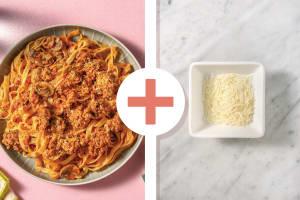 Cheesy Beef & Mushroom Fettuccine image