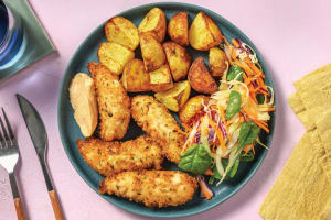 Quick Crumbed Chicken & Slaw image