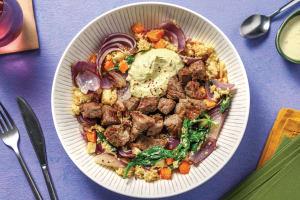 Garlic Beef & Creamy Pesto Dressing image