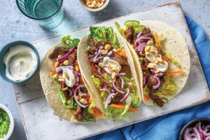 Honey-Soy Beef Tacos image
