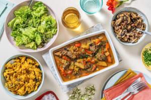 Ragoût de veau & champignons aux lardons image
