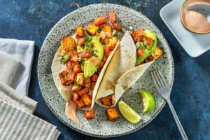 Rauchige Süsskartoffel-Hirtenkäse-Tacos image