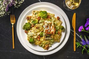 Ravioli met beurre blanc en gemarineerde kabeljauw image