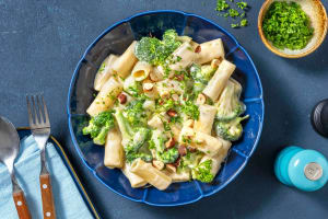 Rigatoni aux trois fromages et brocoli image