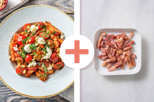 Rigatoni Caprese with Bacon image