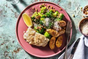 Rijke broccoli met gebakken kabeljauw image