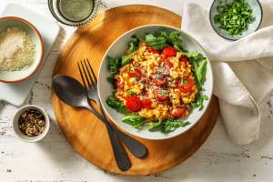 Risotto à la tomate et au lait de coco image