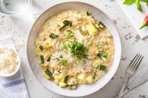 Pittige risotto met bleekselderij en courgette image
