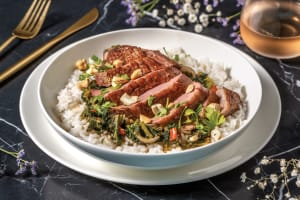 Roast Duck Breast & Red Curry Veggies image